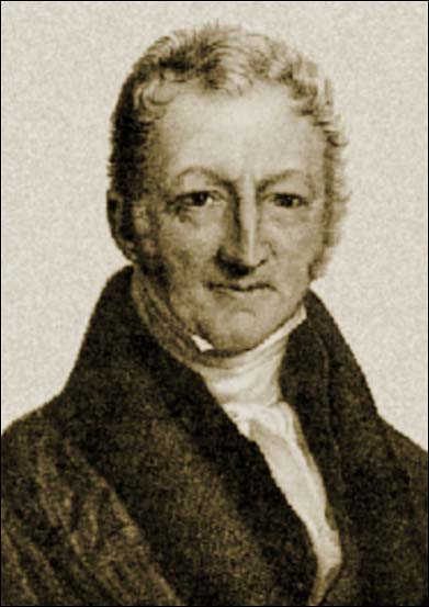 a biography of thomas robert malthus the political economist of 1798 Thomas robert malthus (1768-1834) was the founder of population studies and one of the greatest english economists of the 19th century robert malthus profoundly influenced legislation governing the state's approach to poverty and unemployment and was the first professor of economics at any english higher education institution.
